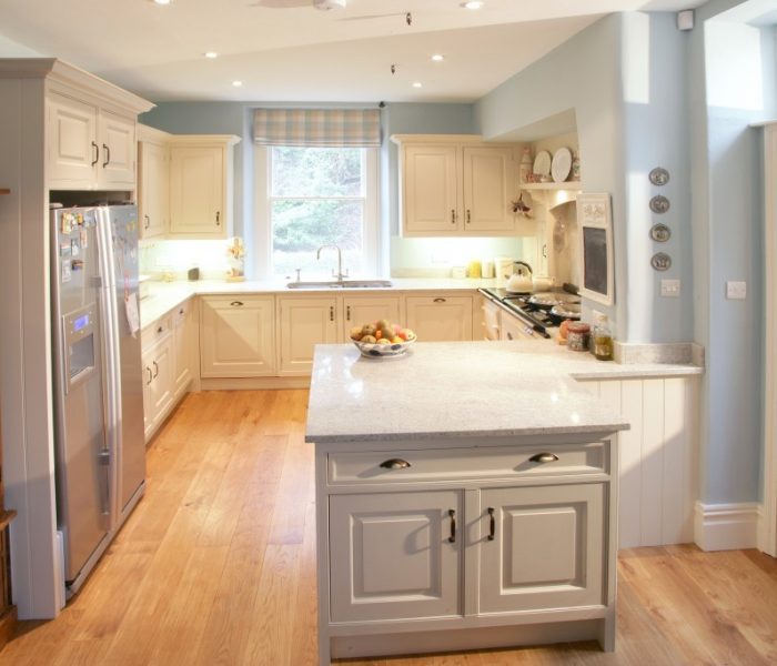 kitchen open plan wood modern shaker